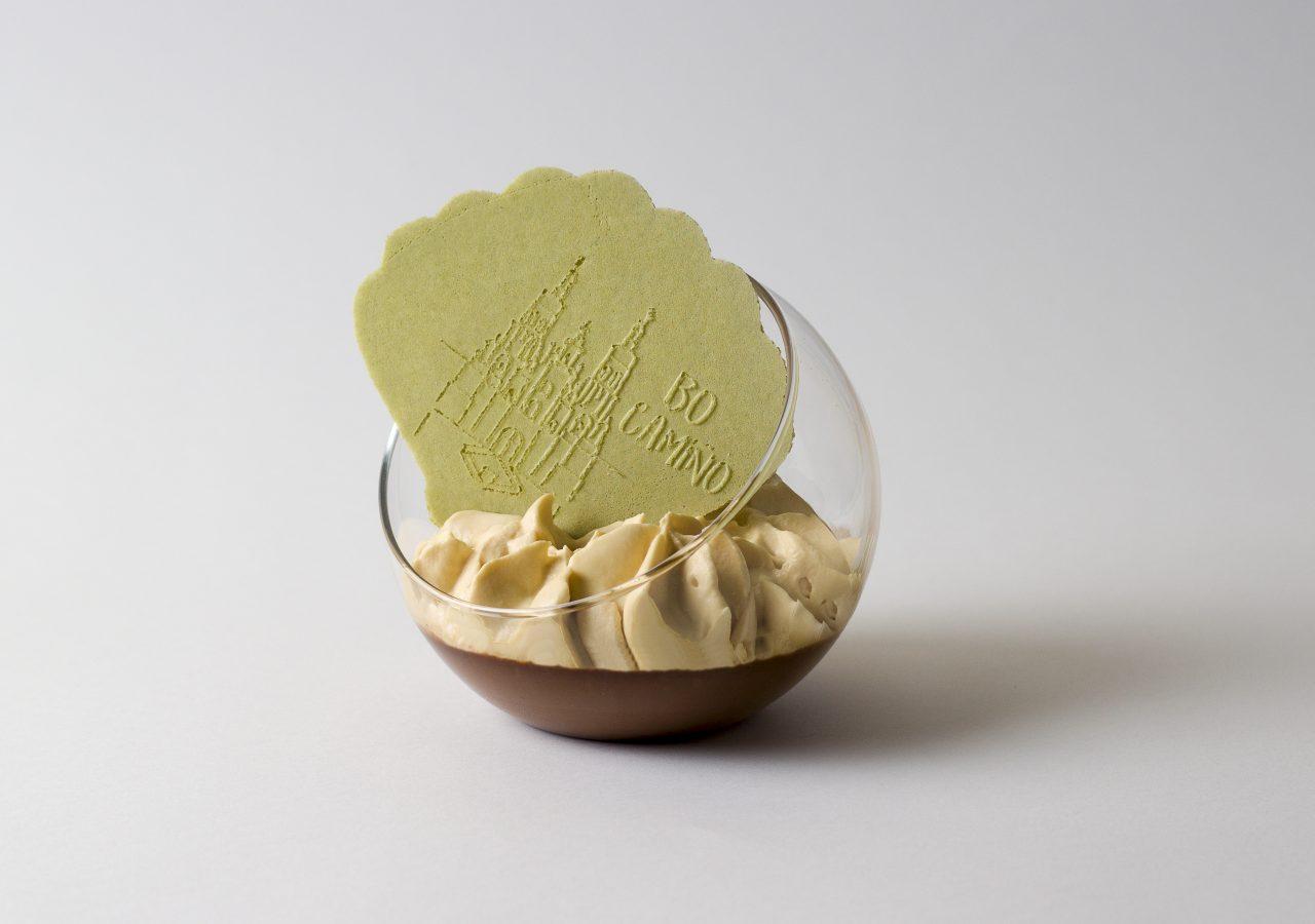 Milhoja matcha con crema
