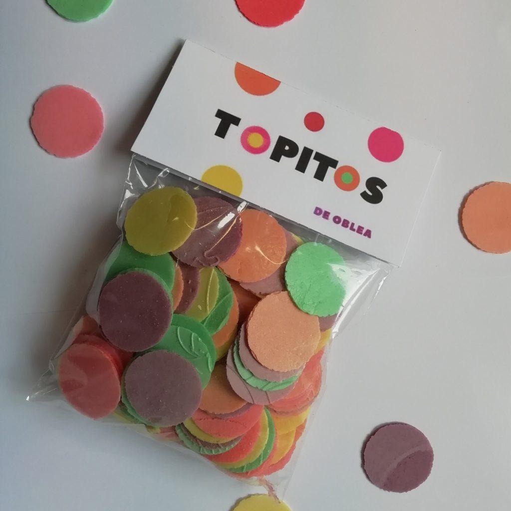 Bolsa de obleas de colores y sabores, snack sin azúcar y decoración de tartas y helados